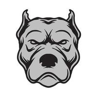 Dog face drawing vector