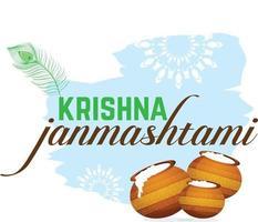 Krishna janmashtami and load krishna vector