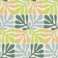 Scandinavia abstract nature leaf shape illustration seamless pattern vector