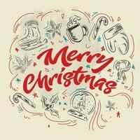 Christmas Design background doodle element vector