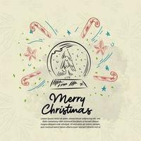Christmas design doodle elements background vector