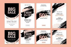 Set of Story Sale Banners vector