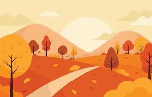 paisaje de otoño de la naturaleza vector