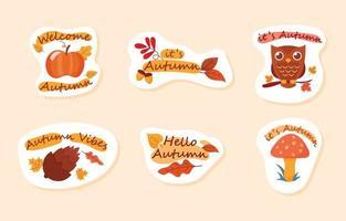 Autumn Season Sticker vector
