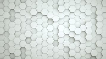 Digital hexagon abstract background video