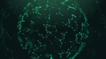 Digital network plexus or concept technology ball video