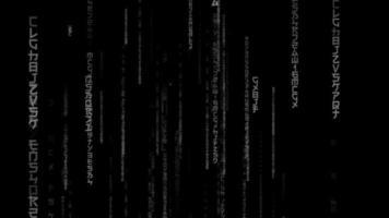 fond de matrice de hacker typographie abstraite video
