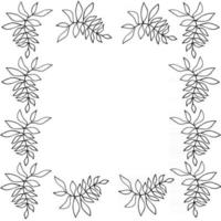 Silhouette of floral frame vector