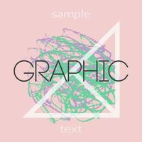 Graphic design backgrounds. Creative universal card vector
