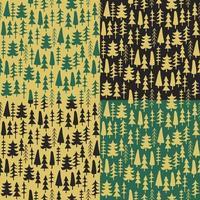 Set fir tree seamless pattern colorful. vector
