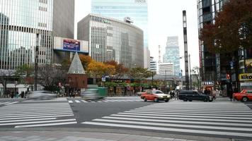 Time lapse Ginza area in Tokyo City, Japan video