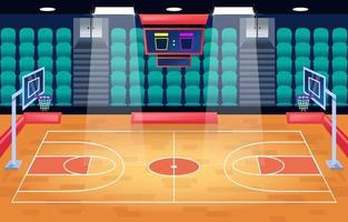 Basketball Court Cartoon Background vector
