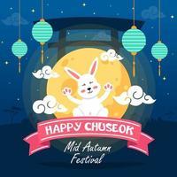 Chuseok Mid Autumn Festival Celebration vector