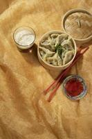 The delicious asian food composition photo