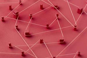concepto de red composición de bodegones foto