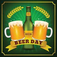 fondo realista del día internacional de la cerveza vector