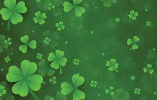 Green Clover Leaves Background vector