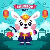 Chuseok Day Greeting vector