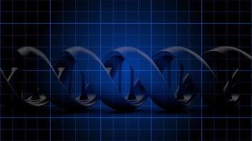 filamento di DNA animato su una griglia blu - loop video
