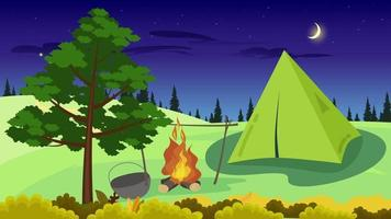 Camping In The Jungle In The Night video