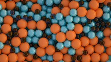 Balls of different colors and sizes photo