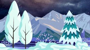 tempo de neve nas montanhas escuras video