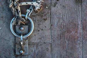 Rusty Chain and Rope near Dock photo