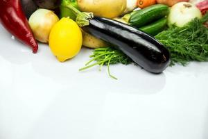 Healthy Fresh Mix of Raw Vegetable Composition photo