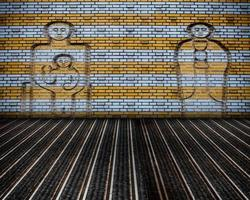 Urban Grunge Interior Brick Wall Stage photo