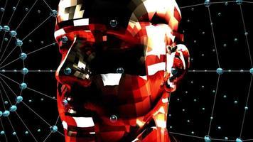 cabeza animada 3d futurista - lazo video