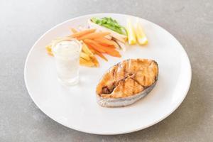 Teriyaki grilled mackerel fish steak photo