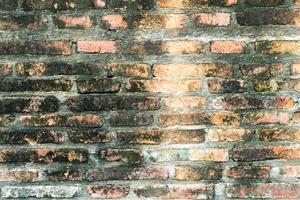 Empty brick wall texture for background photo