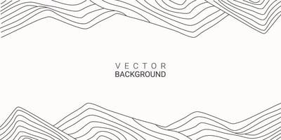 Line Art abstract background hand-drawn mountain, hill, contour vector