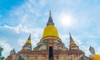 Beautiful old architecture historic of Ayutthaya in Thailand - boost up color processing style photo
