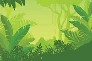 Gradient Jungle Scene vector