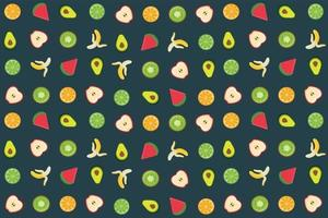 Fruit and vegetable pattern or set vector