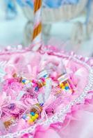 colorido ramo de boda hermosas flores románticas foto