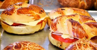 Delicious Savory Pastry Food For Breakfast photo