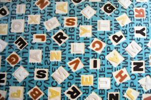 alfabetos sobre el concepto de educación de alfombras foto