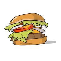 colorful hamburger vector