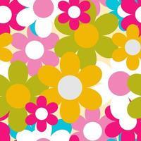 flores, naturaleza, seamless, patrón, plano de fondo, vector, ilustración vector
