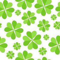 Green Clover Leaves Seamless Pattern Background Vector Illustra