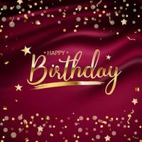 Happy Birthday Background with golden confetti vector