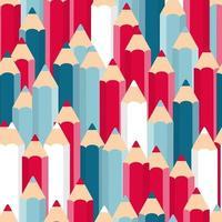 Pencils Seamless Pattern Background Vector Illustration