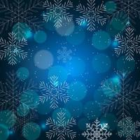 Abstract Beauty Christmas and New Year Background with Snow vector