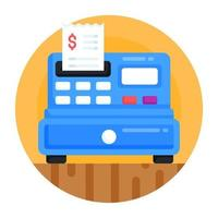 Cash Register and drawer vector