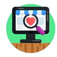 Search Favorite Shop vector