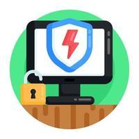 Online  Cyber security vector