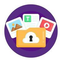 Online Cloud Security vector