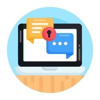 chat confidencial seguro vector